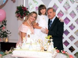 María José junto a sus padres Myriam Boo de Higuera y Fernando Higuera Escalante. (FOTO Nelson Díaz)