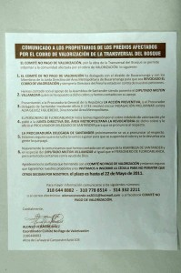 Este es el comunicado que por los conjuntos de Cañaveral se repartió durante este fin de semana y que indignó a algunos residentes del sector.