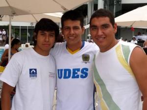Carlos Rodríguez, Julián Garnica y Jonathan Amorocho.