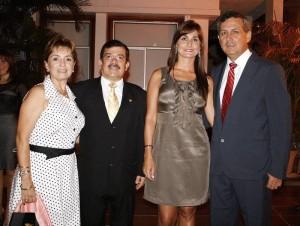 Beatriz de Vargas, Tomás Vargas, Natalia Galvis y Gonzalo Díaz.