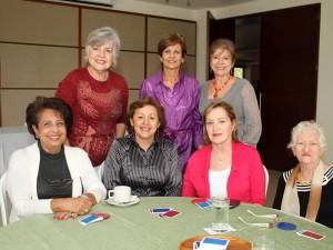 Leonor de Salazar, Esperanza de Becaría, Blanca de Pinilla, Anita Covellli, Mercedes de Hazbón, Esperanza Aristizabal de Gómez e Isabel de Quintero. (FOTO Nelson Díaz)