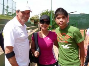 Andrés Novoa, Zayda Zarate y Andrés Granados.