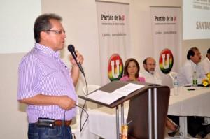 Con la presencia de dirigentes del partido de la U, Germán Orduz lanzó su campaña. (FOTO Suministrada)