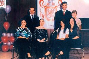 María Hortensia Gómez de Alarcón, Alejandra Alarcón Gómez, Andrea Rueda Alarcón, María José Alarcón Gómez, Juan Diego Rueda Alarcón, Jorge Eduardo Rueda González. (FOTO Suministrada)