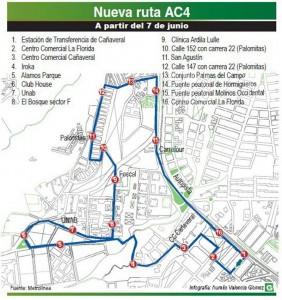 Así será la nueva ruta AC4.