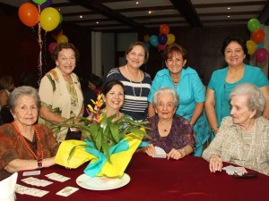 Lucy de Arias, Toña de Puyana, Toti de Puyana, María Stella Puyana, Celia Inés Romero, Luis Emma de Romero, Marilú Romero de Medina y Elvia de Rangel. (FOTO Nelson Díaz)