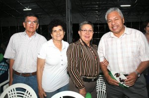 Gerardo Macías, Cecilia Pinilla de Vargas, Zoraida Rodríguez y Pablo Antonio Cárdenas.