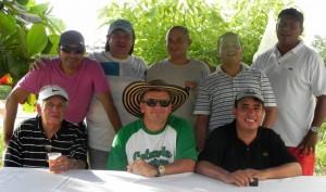 Aparecen sentados: Roberto Ordoñez, Didier Vega y Libardo Lagos. De pie: Julio Rangel, Cristian Messi, Jorge Becerra, Diego Rojas y Carlos García. (FOTO Suministrada)