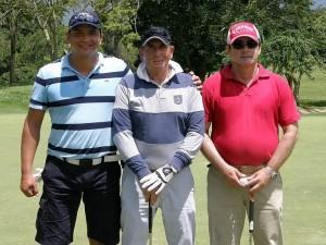 Julio Gordillo, Héctor Rueda y Norberto Plata.