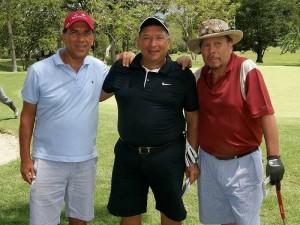 Martín Alonso Sánchez, Richard Bocanegra y Mauricio Pinto.