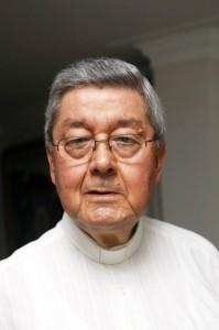 Monseñor Néstor Navarro era el rector del Seminario Mayor de Floridablanca cuando el Papa Juan Pablo II estuvo en Bucaramanga.