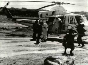 El Papa llegó al Seminario Mayor en un helicóptero desde el aeropuerto de Palonegro.