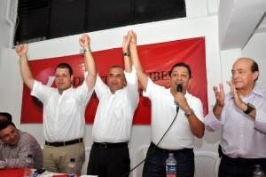 Carlos Roberto Ávila, Darío Echeverry, Luis Francisco Bohórquez y Honorio Galvis. (FOTO Suministrada)