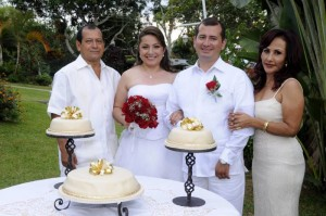 Juan de Jesús Díaz, Lisney Neira Patarroyo, Durley González Useda y Nelly González de Díaz. (FOTO Hernando Galeano)
