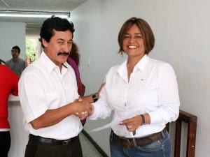 El pasado 18 de julio Alba Luz Vega Rodríguez inscribió su candidatura para la Alcaldía de Floridablanca. (FOTO Mauricio Betancourt)