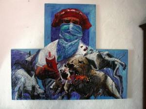 Mantilla Caballero se considera expresionista, con dejos surreales y retratista.