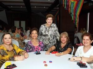 Sandra Anaya, Fanny de Galvis, Cecilia de Carlier, Myriam Ruiz y Celina de Castellanos.