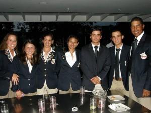Nicolle Ferrer, María Andreida Merchán, Ana Raga, Fabiana Zalazar, Diego Tamayo, Robert de Biase y Julio Vegas.