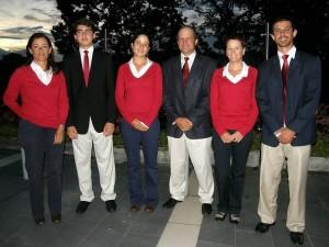 Sandra Restrepo, Marcos Cabarcos, Laura Restrepo, Juan Carlos Patiño, Dawn Prosser y Miguel Ordóñez.