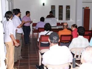La primera reunión de socialización se realizó el pasado 16 de agosto en el salón parroquial de Santa María Reina de Cañaveral. (FOTO Mauricio Betancourt)
