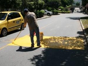 Policía acostado recibió mantenimiento en Cañaveral. (FOTO Mauricio Betancourt)
