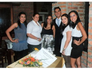 Camila Estévez, Juliana Díaz, Clara Rosero, Marco Rey, Diana Gómez y Margarita Rosero. (FOTO Suministrada)