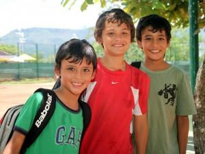 Juan David Blanco, Sebastián Monroy y Daniel Blanco. (FOTOS Nelson Díaz)
