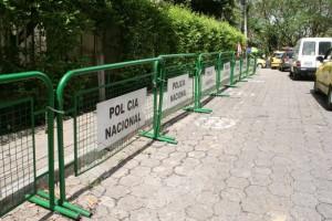 Por el sector de los centros médicos de El Bosque también se trabaja en recuperar el espacio público.