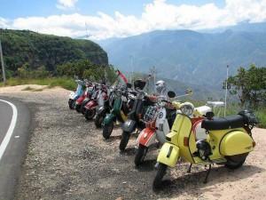 Las motos que hicieron parte del recorrido a La Mesa. (FOTO Suministrada)