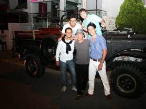 Aparecen los integrantes de la agrupación Anderson Jaimes, Juan Diego Arenas, Gustavo Esteban, Yamith Noya y César Ardila. (FOTO Mauricio Betancourt)