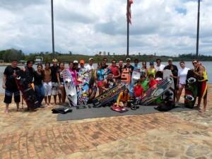 Los practicantes de wakeboarding se encontraron en el I Torneo Departamental de Wakeboarding. (FOTOS Nelson Díaz)