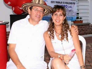 Luis Felipe Carrillo y Nidia Patricia Acevedo.