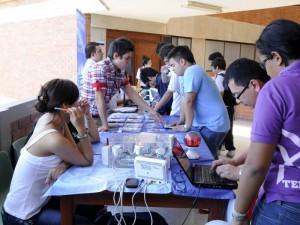 Durante la semana también se vivió la feria de la ciencia. (FOTO Hernando Galeano)