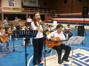 El canto también tuvo lugar en la semana cultural. (FOTO Suministrada)