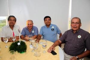 Alberto Forero, Armando Ariza, Rafael González y Darío Pedraza.