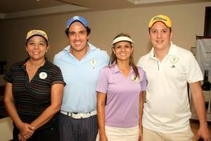 Sonia Rizzo, Juan Guillermo Lancheros, Laura Arenas y Esteban Huertas.
