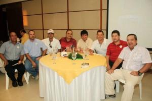 Jaime Reyes, Ramón Andreu, Sanín Gómez, Zamir Zena, Asmed Santoyo, Samuel Calderón, Mauricio Zuñiga y Darío Gómez.