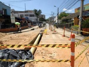 Hasta el momento se han logrado instalar aproximadamente 24 metros de la red principal.