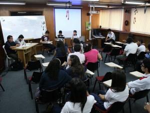 Estudiantes de diferentes instituciones del país se dieron cita en las instalaciones del Fundación Colegio UIS para tomar parte en las II Olimpiadas Nacionales de Filosofía. (FOTO Mauricio Betancourt)