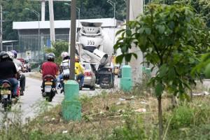 Así luce el separador después de Lechesan para tomar la paralela hacia Bucaramanga.