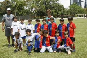 Mateo lo celebró con un partido de fútbol en el Club Campestre. (FOTO César Flórez)