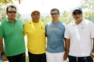 Javier Rey, Ricardo Amaya, Hoger Amaya y Carlos Rueda. (FOTOS César Flórez)