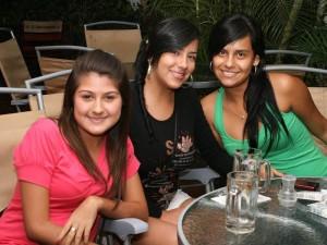 Vannesa Pachón, Carolina Mendoza y Diana Amaya.