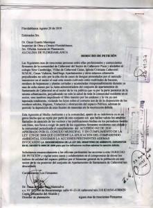Derecho de petición enviado por la iglesia Cristiana de Cañaveral.