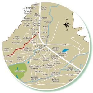 Sería un corredor peatonal que interconectaría lo que en poco tiempo será un gran polo de desarrollo del área metropolitana de Bucaramanga.