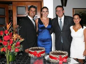 Sergio Leguizamón, María Camila Sánchez, Carlos Fernando Sánchez y Marta Sofía Linero.