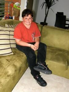 Mario Sánchez Salcedo es el  pequeño que sueña con ser artista.