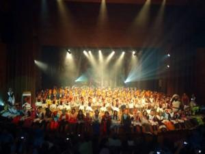 Evento cultura de Gimansio Cantillana en el Luis A. Calvo.