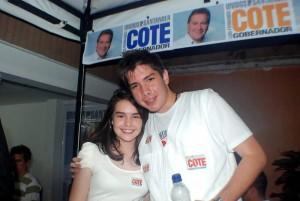Sus hijos Sara Teresa y Luis Fernando.