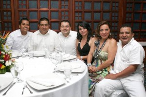 Mauricio Molano, José Parra, Jhon Serrano,  María Inés Meneses, Nelson Araque y Magdalena García.